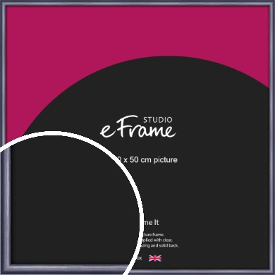 Brushed Muave Purple Picture Frame, 50x50cm (VRMP-A009-50x50cm)