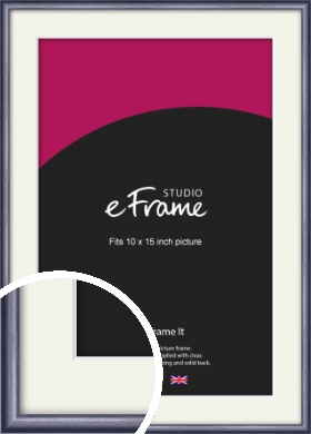 Brushed Muave Purple Picture Frame & Mount, 10x15