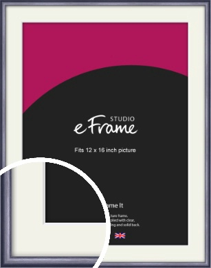 Brushed Muave Purple Picture Frame & Mount, 12x16