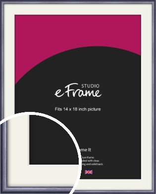 Brushed Muave Purple Picture Frame & Mount, 14x18