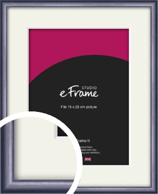 Brushed Muave Purple Picture Frame & Mount, 15x20cm (6x8