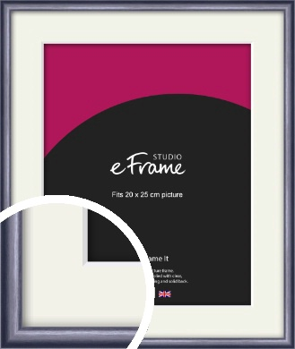 Brushed Muave Purple Picture Frame & Mount, 20x25cm (8x10