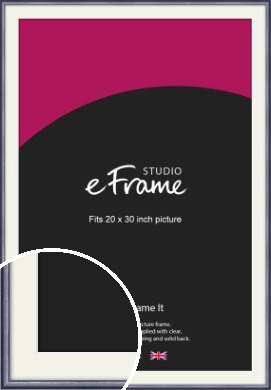 Brushed Muave Purple Picture Frame & Mount, 20x30