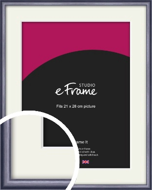Brushed Muave Purple Picture Frame & Mount, 21x28cm (VRMP-A009-M-21x28cm)