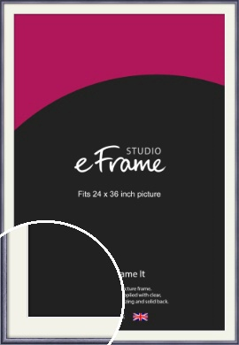 Brushed Muave Purple Picture Frame & Mount, 24x36