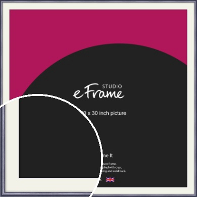Brushed Muave Purple Picture Frame & Mount, 30x30