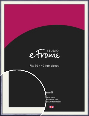 Brushed Muave Purple Picture Frame & Mount, 30x40