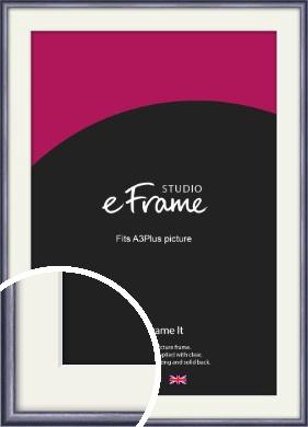 Brushed Muave Purple Picture Frame & Mount, A3Plus (VRMP-A009-M-329x483mm)