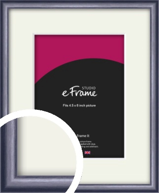 Brushed Muave Purple Picture Frame & Mount, 4.5x6
