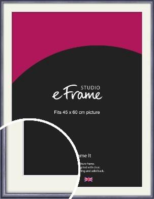 Brushed Muave Purple Picture Frame & Mount, 45x60cm (VRMP-A009-M-45x60cm)
