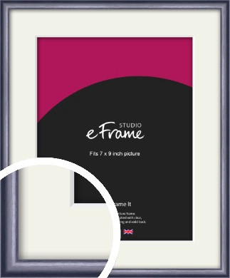 Brushed Muave Purple Picture Frame & Mount, 7x9