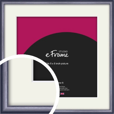Brushed Muave Purple Picture Frame & Mount, 8x8