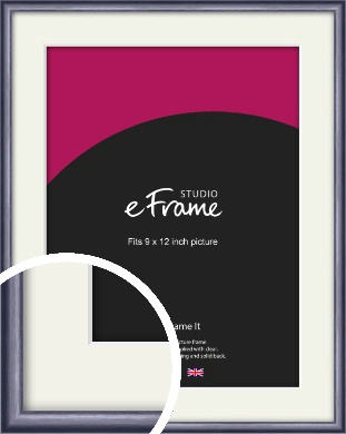 Brushed Muave Purple Picture Frame & Mount, 9x12