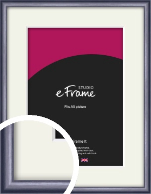 Brushed Muave Purple Picture Frame & Mount, A5 (148x210mm) (VRMP-A009-M-A5)