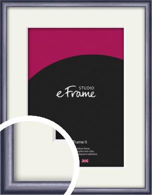 Brushed Muave Purple Picture Frame & Mount (VRMP-A009-M)