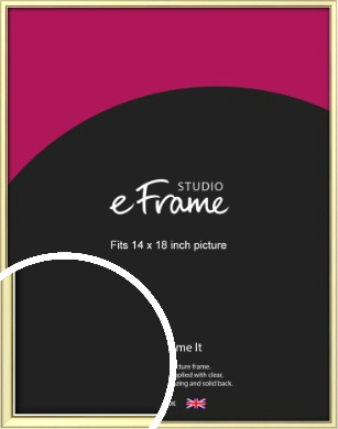 Soft Gold Picture Frame, 14x18