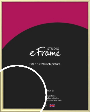 Soft Gold Picture Frame, 16x20