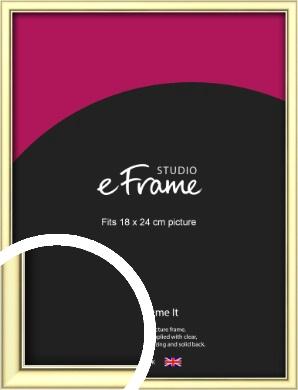Soft Gold Picture Frame, 18x24cm (VRMP-A037-18x24cm)