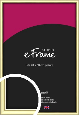 Soft Gold Picture Frame, 20x30cm (8x12