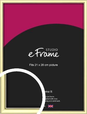 Soft Gold Picture Frame, 21x28cm (VRMP-A037-21x28cm)