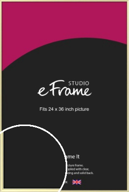 Soft Gold Picture Frame, 24x36