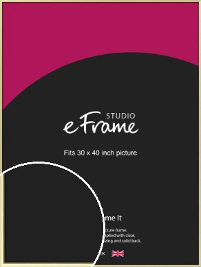 Soft Gold Picture Frame, 30x40