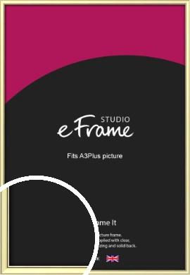 Soft Gold Picture Frame, A3Plus (VRMP-A037-329x483mm)