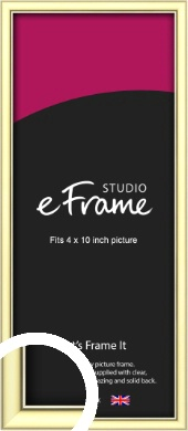 Soft Gold Picture Frame, 4x10