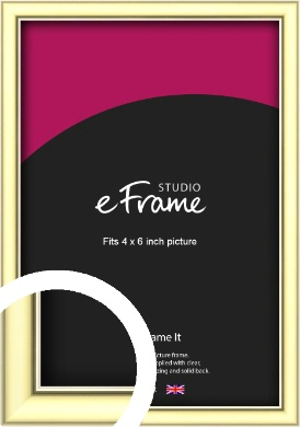 Soft Gold Picture Frame, 4x6