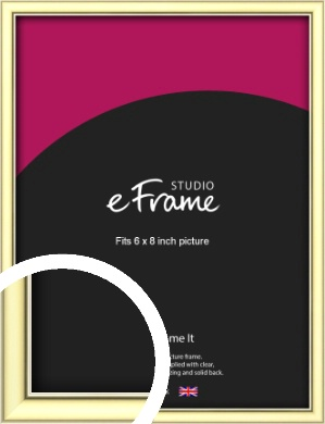 Soft Gold Picture Frame, 6x8
