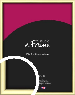 Soft Gold Picture Frame, 7x9