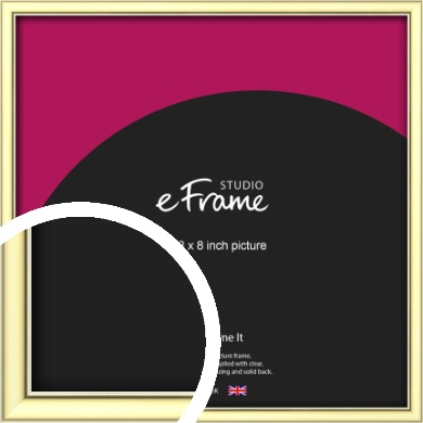 Soft Gold Picture Frame, 8x8