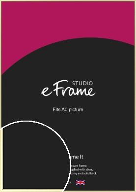 Soft Gold Picture Frame, A0 (841x1189mm) (VRMP-A037-A0)