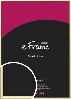 Soft Gold Picture Frame, A2 (420x594mm) (VRMP-A037-A2)