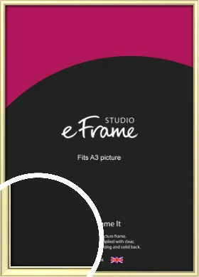 Soft Gold Picture Frame, A3 (297x420mm) (VRMP-A037-A3)
