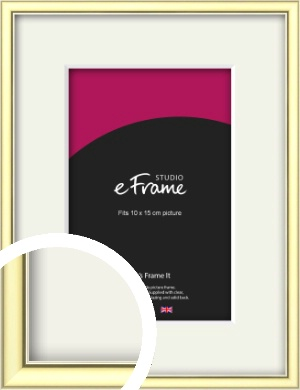 Soft Gold Picture Frame & Mount, 10x15cm (4x6