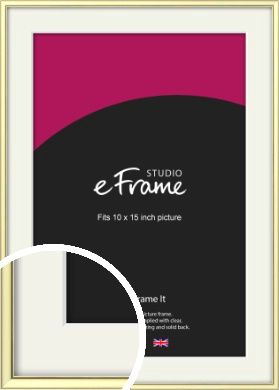 Soft Gold Picture Frame & Mount, 10x15