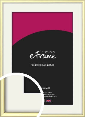Soft Gold Picture Frame & Mount, 20x30cm (8x12