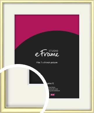 Soft Gold Picture Frame & Mount, 7x9