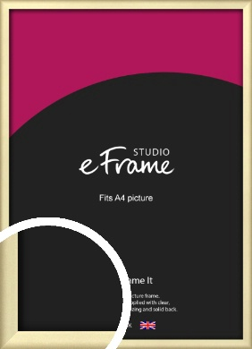 Refined Gold Picture Frame, A4 (210x297mm) (VRMP-A044-A4)