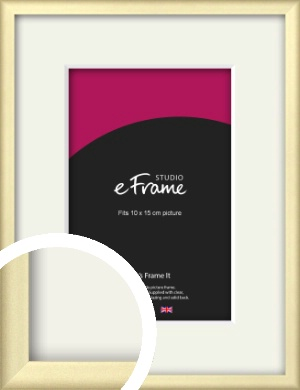 Refined Gold Picture Frame & Mount, 10x15cm (4x6