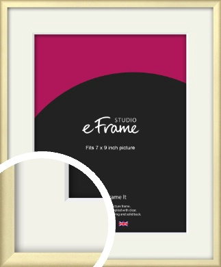 Refined Gold Picture Frame & Mount, 7x9
