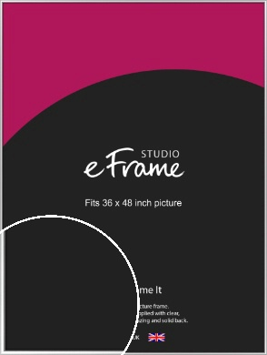 Mirror Shine Silver Picture Frame, 36x48