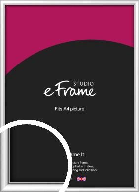 Mirror Shine Silver Picture Frame, A4 (210x297mm) (VRMP-A045-A4)