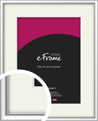 Mirror Shine Silver Picture Frame & Mount, 15x20cm (6x8