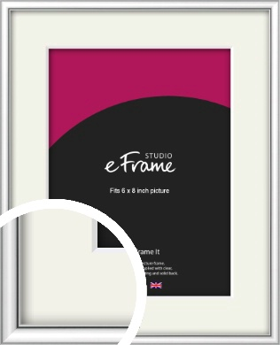 Mirror Shine Silver Picture Frame & Mount, 6x8