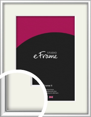 Mirror Shine Silver Picture Frame & Mount (VRMP-A045-M)
