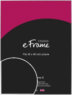 Frosted Chrome Silver Picture Frame, 36x48