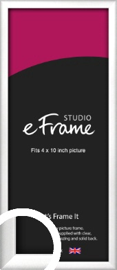 Frosted Chrome Silver Picture Frame, 4x10