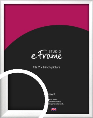 Frosted Chrome Silver Picture Frame, 7x9